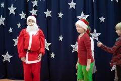 Ho, ho ho! Rozmowa  Mikołaja Mateusza i Elfa Karolinki.