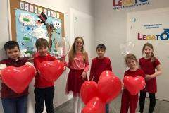 Walentynki w Legato- nasz Samorząd uczniowski.