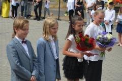 Miłosz G., Miłosz M., Laura oraz Karolina - uczniowie z kl. 5a.